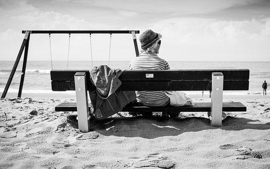 Beach, Sand, Woman, People, Swings, Swing Set, Shore