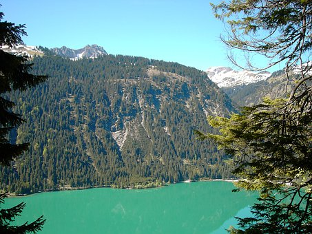 Haldensee, Water, Green, Blue, Tannheim, Tyrol