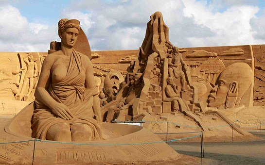 Artemis, Pillar, Temple, Goddess, Art, Statue, Sand