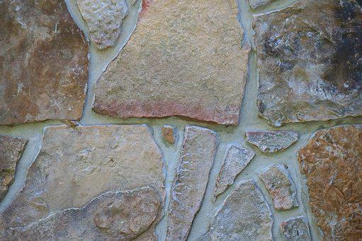 Stone Wall, Tennessee River Stone, Stone, Rock, Wall