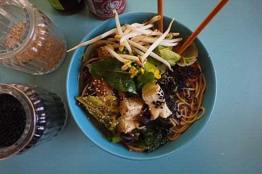 Tofu, Noodle, Soup, Vegan, Vegetable, Bowl, Asian