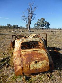 Vehicle, Smashed, Weathered, Rusty, Old, Damage