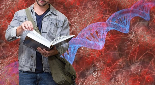 Student, Man, Book, Read, Dna, Blood, Biology, Research
