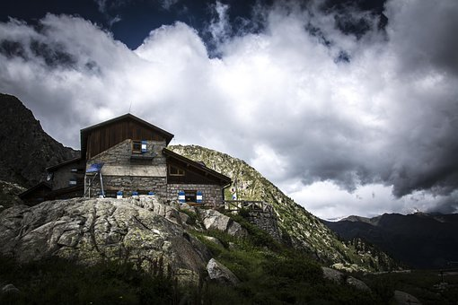 Mountains, Dolomites, Cabin, Hut, House, Refuge, Alm