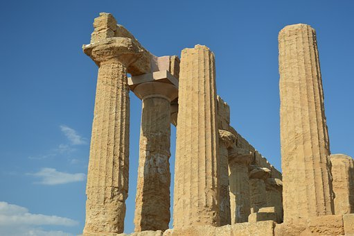 Ruins, Columns, Temple, Architecture, Archaeology