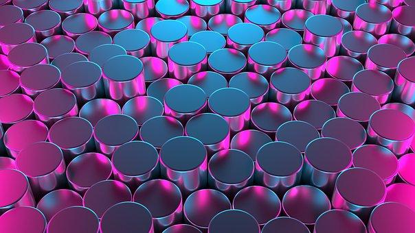 Round, Cylinder, Pattern, Texture, 3d, Structure