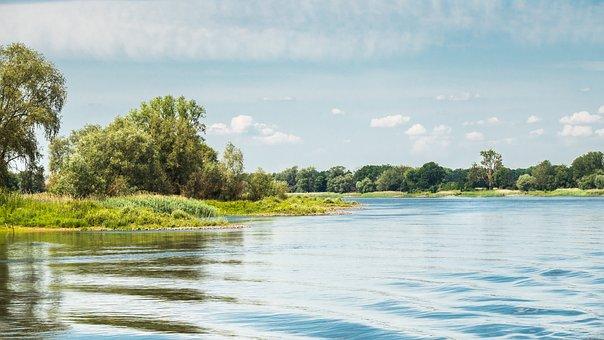 River, Water, Elbe River, Nature, Scenery, Landscape