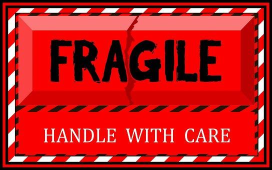 Fragile, Care, Label, Sticker, Warning, Sign, Parcel