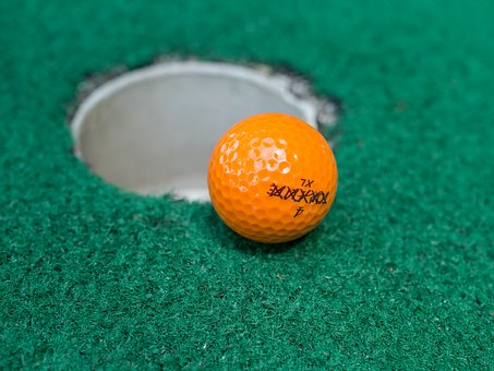 Ball, Golf, Golf Ball, Mini Golf, Hole, Sport, Play