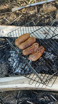 Sausages, Grill, Food, Coal, Nutrition, Bbq, Heat