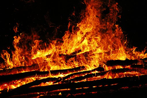 Fire, Burn, Wood, Campfire, Flames, Smoke, Hot