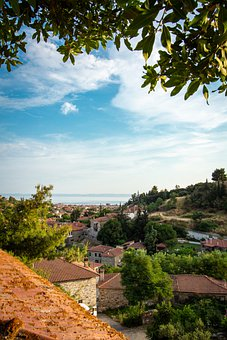 Mediterranean, Village, Vacations, Greece, Houses, View