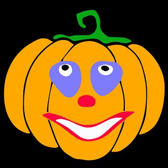 Pumpkin, Clown, Halloween, Ghost, Monster