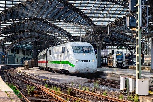Railway Station, Train, Platform, Central Station