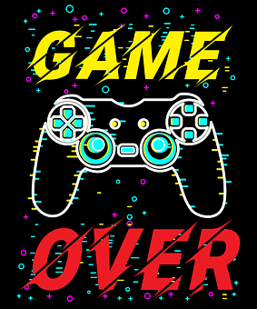 Game, Over, Controller, Buttons, Poster, Gamer