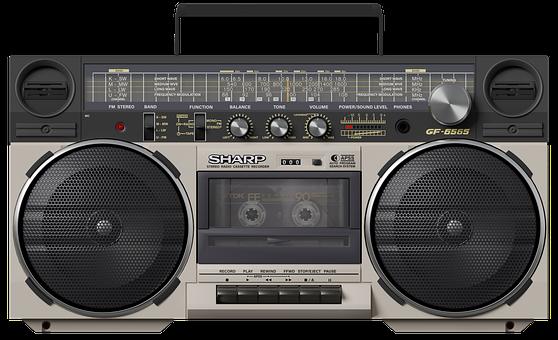 Boombox, Radio, Cassette, Tape, Retro, Vintage, Analog