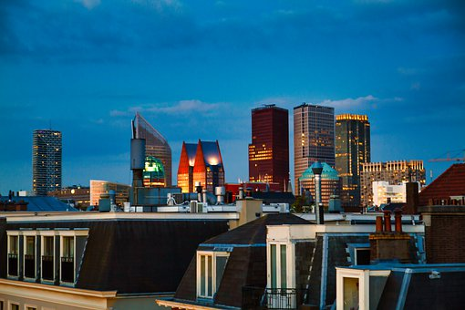 The Hague, Skyline, Netherlands, Building, Architecture