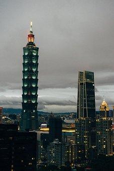 Taipei 101, Skyscraper, Taipei, Night, City, Skyline