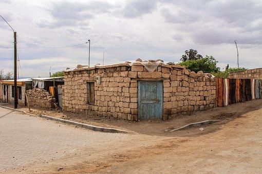 Houses, Rocks, Wall, Bricks, Rural, Adobe, Stones