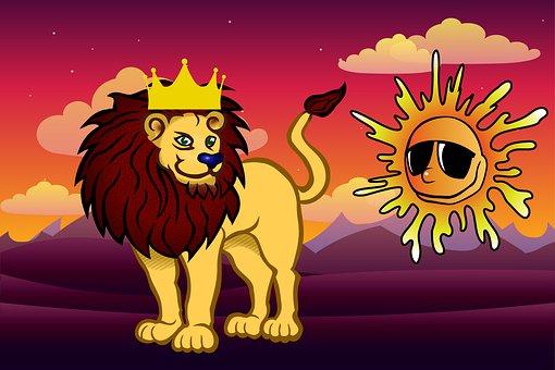 Art, Lion, King, Sun, Animal, Safari, Mammal, Cat
