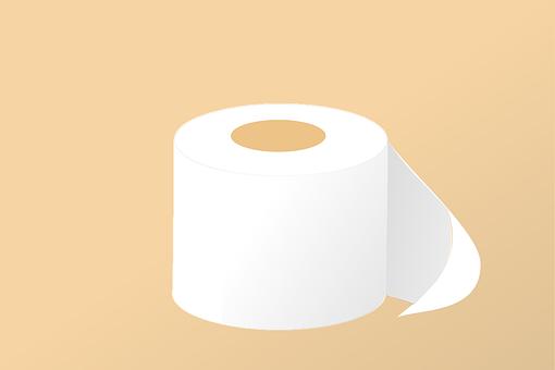 Toilet Paper, Roll, Hygiene, Toilet