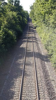 Rails, Train Tracks, Trees, Track, Railway