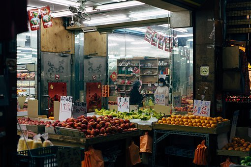 Taipei, Market, Fruit, Food, Vegetables, Supermarket
