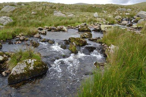 Water, Stream, Outdoors, Scenery, Environment, Rocks