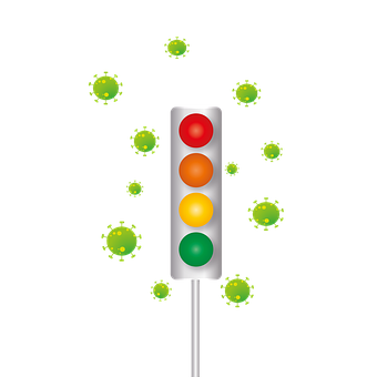 Traffic Lights, Virus, Bacteria, Infection, Stages