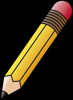 Pencil, Graphite, Eraser, School Supplies, Draw