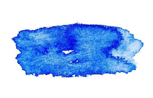 Blue, Watercolor, Paint, Abstract, Texture, Isolated
