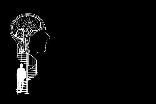 Brain, Head, Silhouette, Stairs, Spiral Staircase, Man