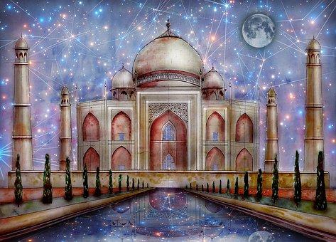 Taj Mahal, Mosque, Monument, Building, Dome