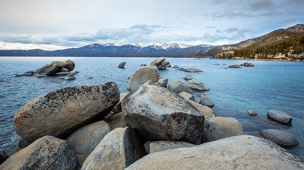 Lake, Tahoe, California, Water, Nature, Landscape, Sky