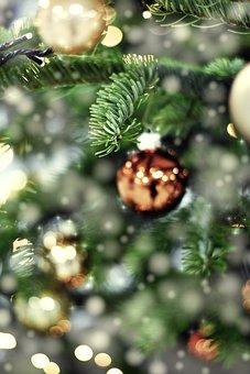 Christmas, Tree, Fir, Ornament, Bokeh, Christmas Tree