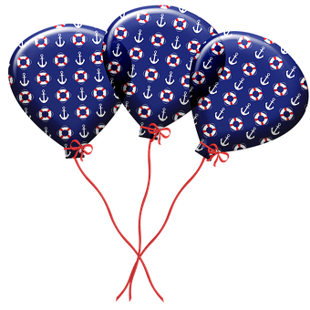 Balloons, Nautical Balloons, Nautical, Anchor