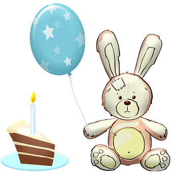 Cake, Day Of Birth, Holiday, Bunny, Gift, For Children