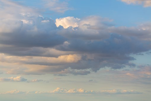 Sunset, Clouds, Sky, Cumulus, Evening, Dusk, Twilight