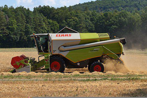 Combine Harvester, Harvest, Straw, Grain, Agriculture