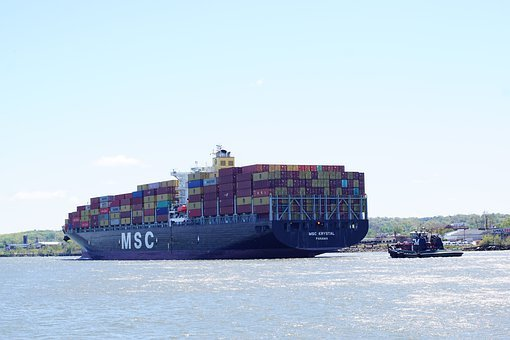 Cargo Ship, Container Ship, Container, Boat