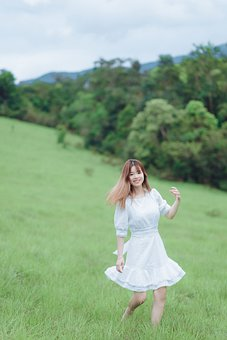 Woman, Young, Meadow, Leisure, Enjoyment, Field, Happy
