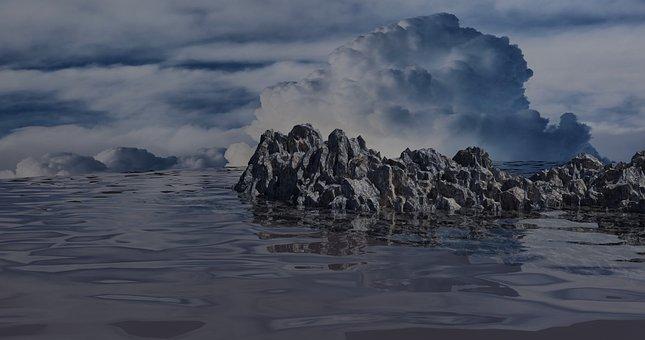 Sea, River, Fog, Clouds, Atmosphere, View, Air, Clear