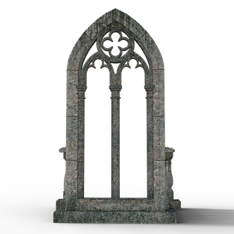 Gothic Window, Window, Architecture, Gothic, Ornament