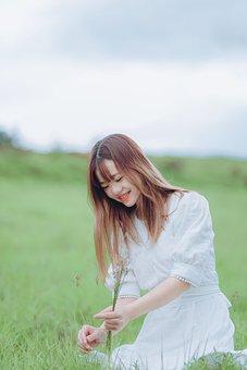 Woman, Young, Meadow, Leisure, Enjoyment, Field, Happy