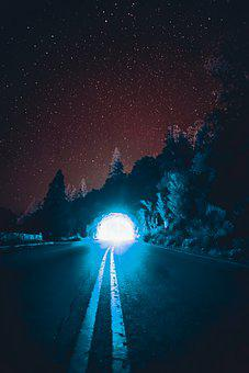 Tunnel, Night, Dark, Architecture, Light, City