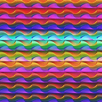 Rainbow Colors, Watercolor, Pattern