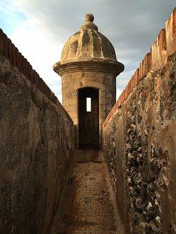 Tower, Turret, Passage, Rocks, Bricks, Architecture