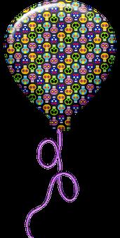 Balloons, Skulls, Skeletons, Pattern, Sugar Skull