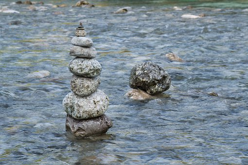 Cairn, Turret, Stones, Stack, Stacked, Nature, Water