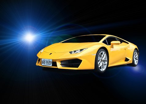 Lamborghini, Vehicle, Lens Flares, Sports Car, Stylish
